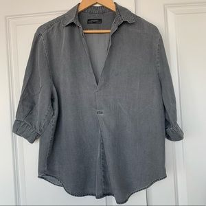 Zara grey denim popover